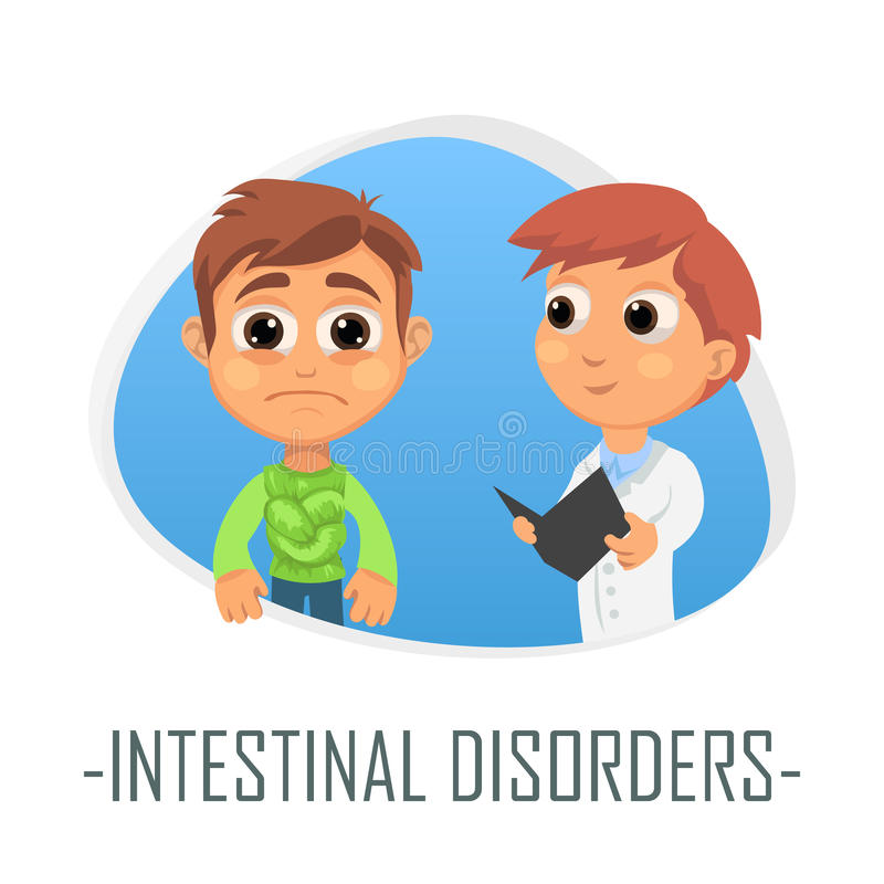Concept médical de troubles intestinal Illustration de vecteur illustration stock
