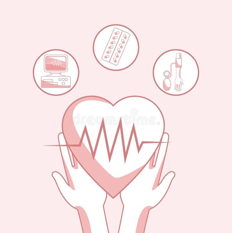 Concept médical et de santé illustration libre de droits