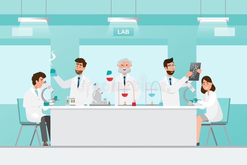 Concept M?DICAL Scientifiques homme et recherche de femme dans un laboratoire de laboratoire images libres de droits