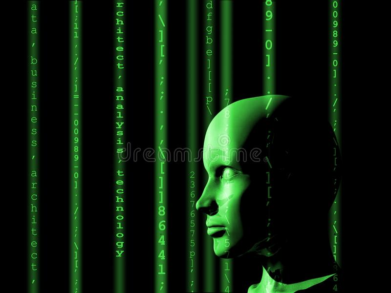 Concept of machine learning to improve artificial intelligence stock images