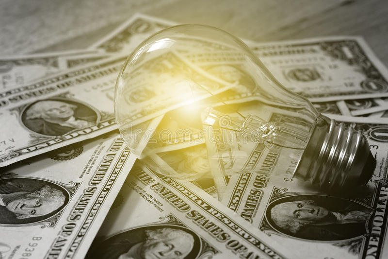 The concept of making money.soft light.Money in black and white,Soft focus. royalty free stock image