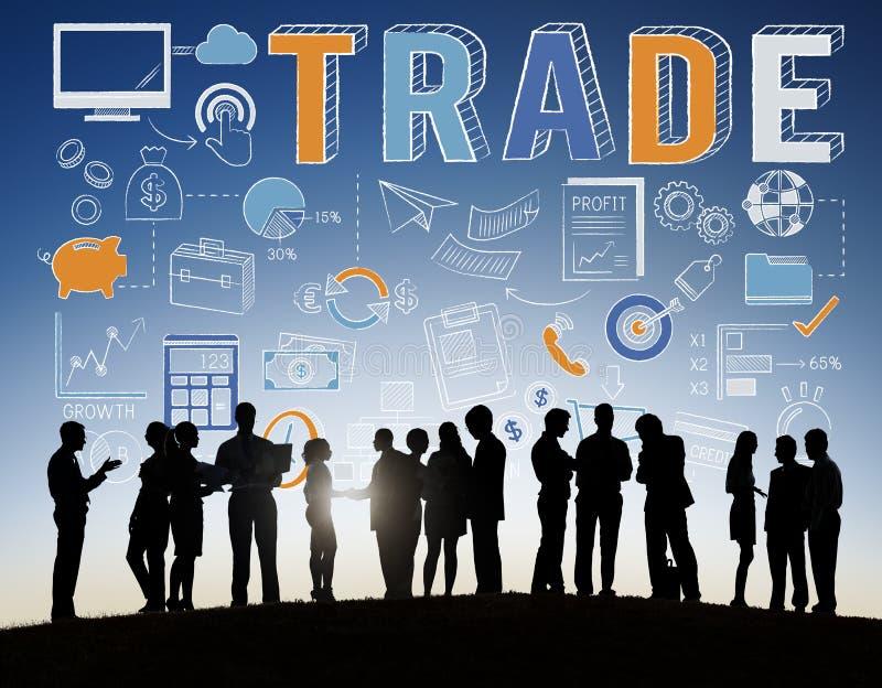 Concept marchand commercial d'échange d'échange d'affaire de commerce photo libre de droits
