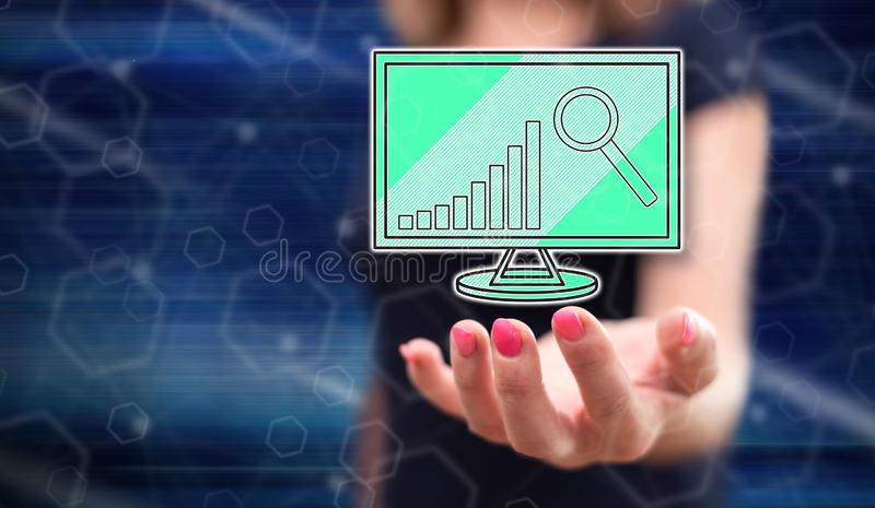 Concept of market analysis royalty free stock image