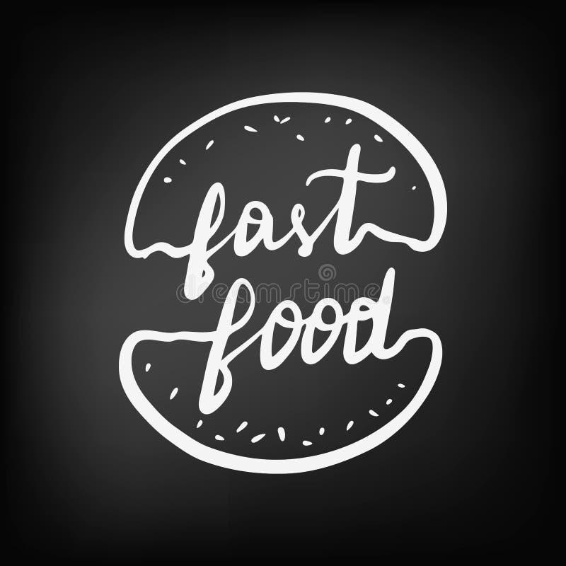 Concept marquant avec des lettres le logo pour le café et le restaurant d'aliments de préparation rapide illustration de vecteur