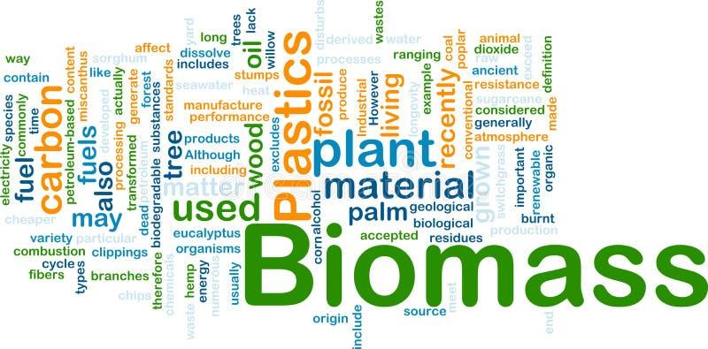 Concept matériel de fond de biomasse illustration libre de droits