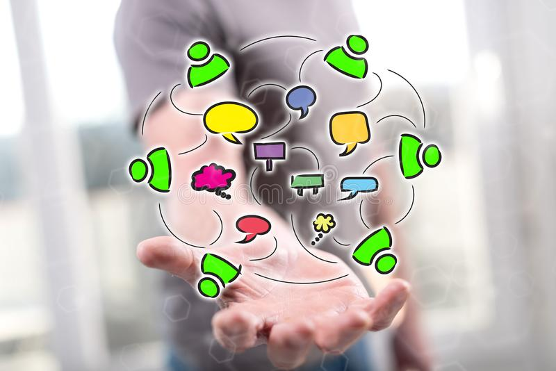 Concept mededeling royalty-vrije stock foto