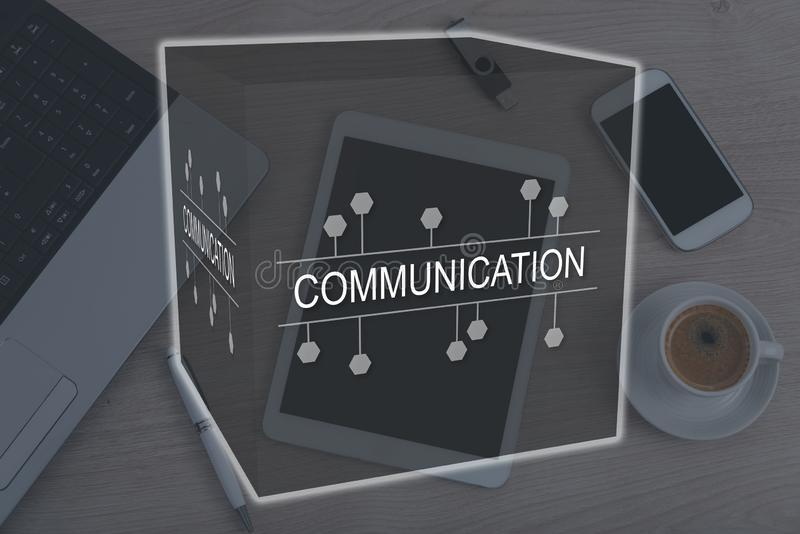 Concept mededeling royalty-vrije stock afbeelding