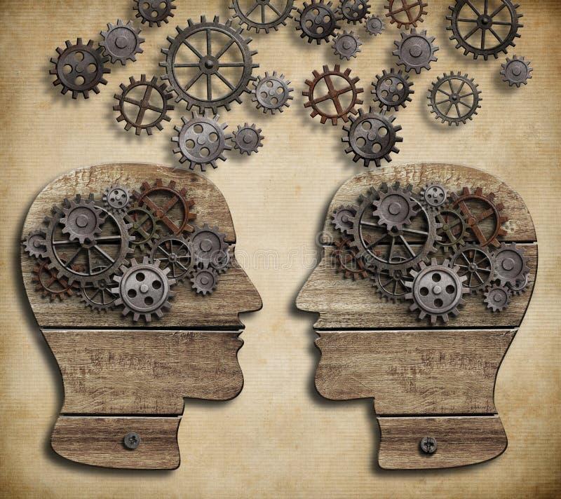 Concept mededeling, dialoog, informatie stock illustratie