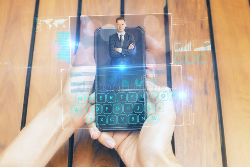 Concept mededeling en futuristisch stock foto's