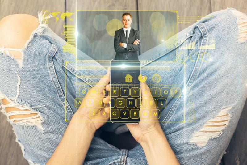 Concept mededeling, netwerk en financiën stock afbeeldingen