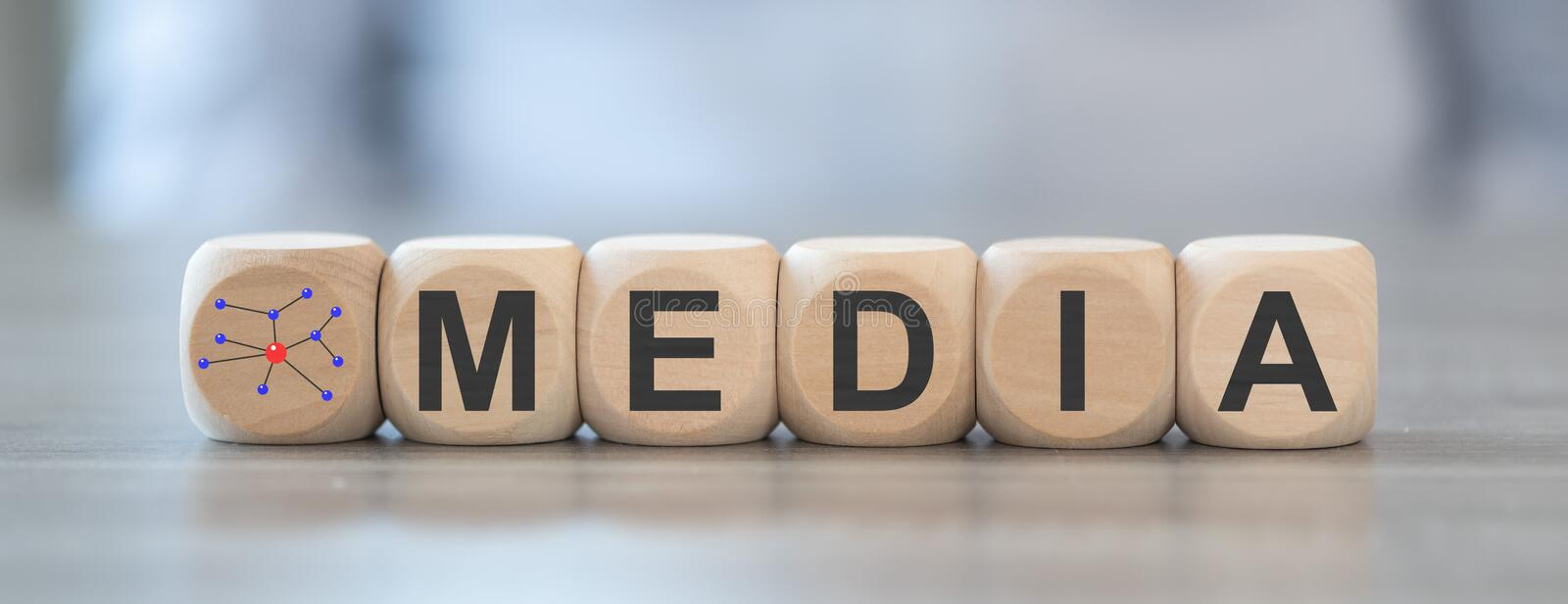 Concept of media royalty free stock images