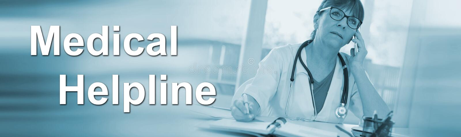 Concept of medical helpline royalty free stock image