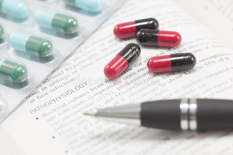 Concept Of Medical Treatment Contain Many Pills An Stock Image