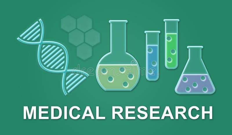 Concept medisch onderzoek royalty-vrije illustratie