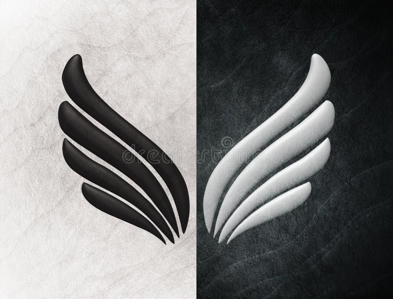 Concept mental d'esprit de trouble bipolaire Changement d'humeur émotions Double personnalité Personnalité duelle Fond noir et bl illustration de vecteur