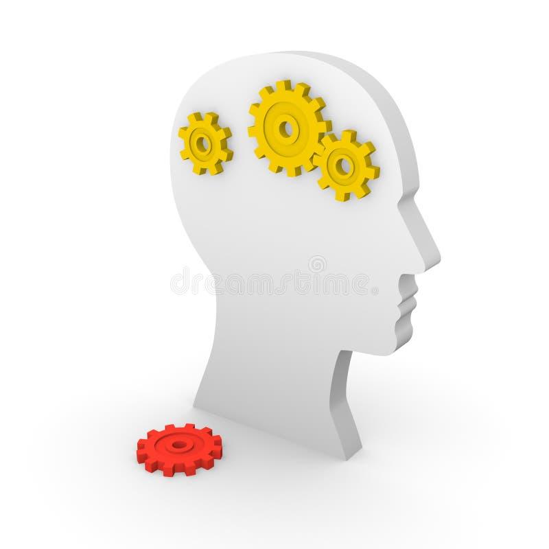 Concept of mental illness stock illustration
