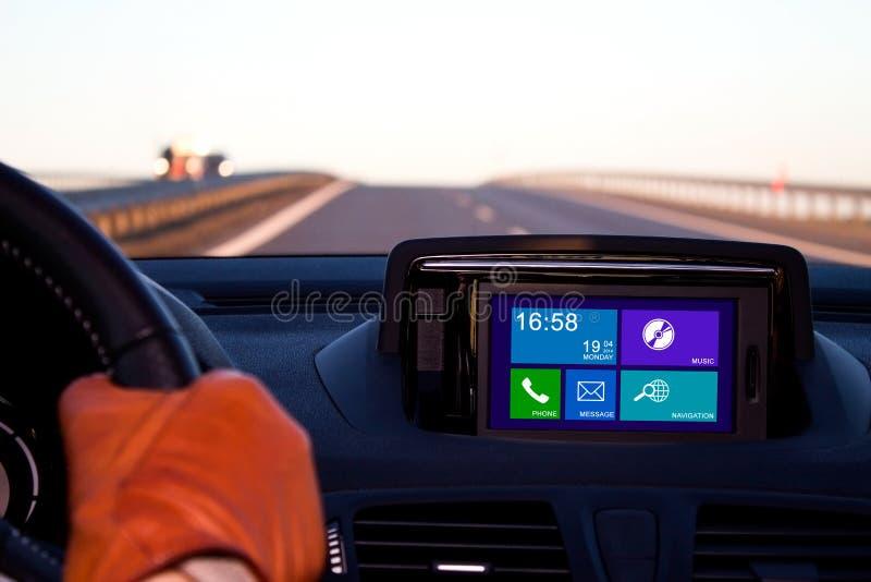 Concept metro UI in auto stock fotografie