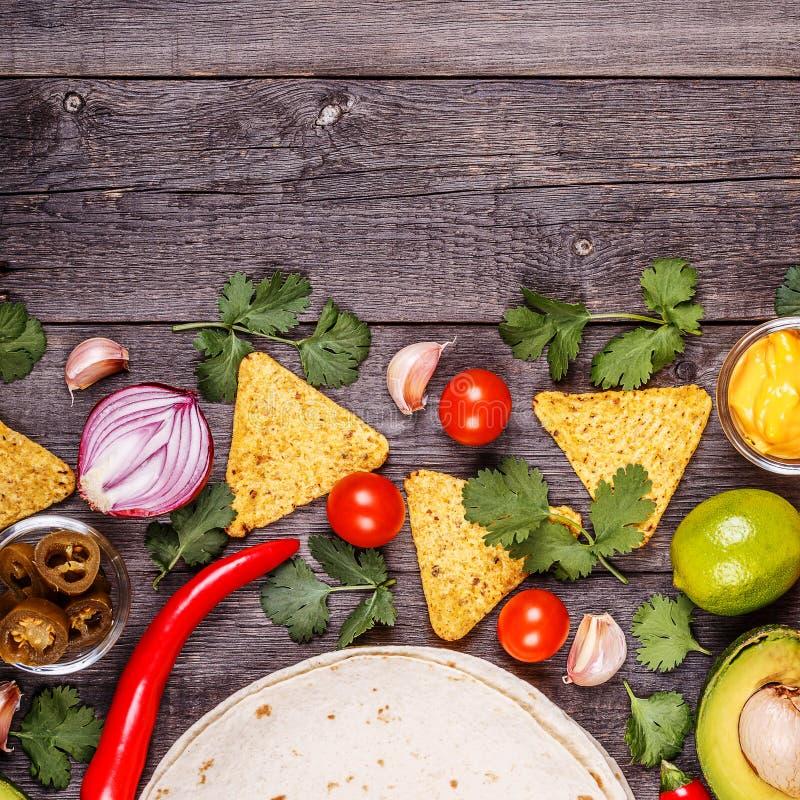 Concept Mexicaans voedsel, exemplaarruimte stock fotografie