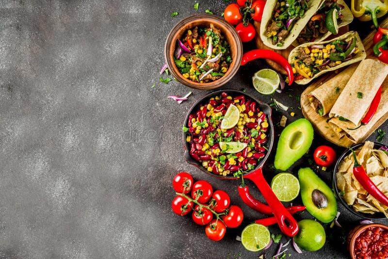 Concept mexicain de nourriture Nourriture de Cinco de Mayo images libres de droits