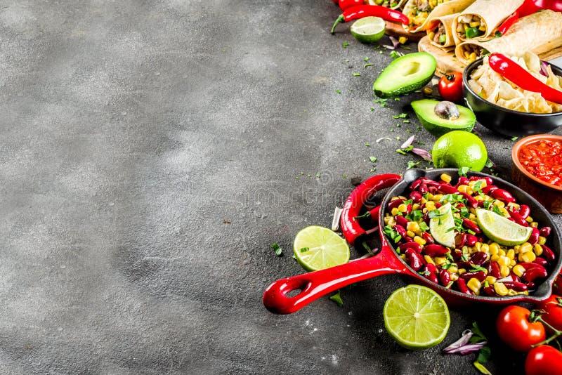 Concept mexicain de nourriture Nourriture de Cinco de Mayo photo stock