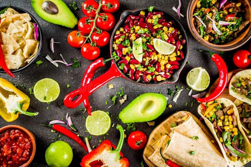 Concept mexicain de nourriture Nourriture de Cinco de Mayo photos stock