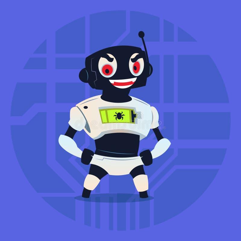 Concept mignon de technologie d'intelligence de Ninja Mask Modern Artificial d'usage de robot illustration libre de droits