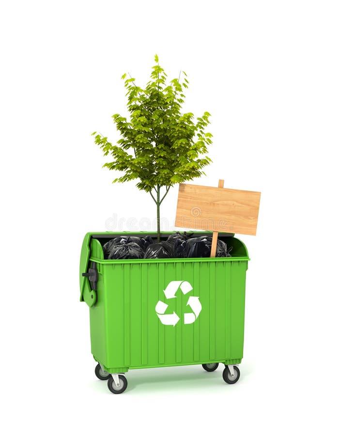 Concept milieubesparing stock illustratie