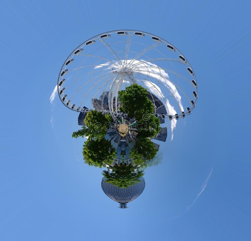 Mini planet of urban nature royalty free stock photos