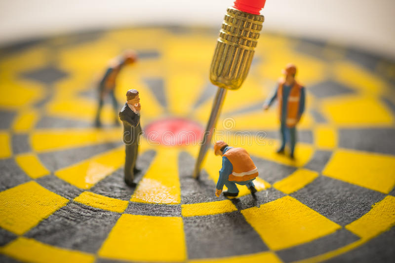 Concept of missed target business strategy. royalty free stock photo