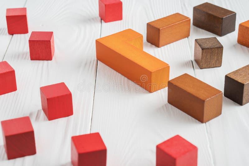 The concept of misunderstanding. Barriers between people, prejudice stock photo