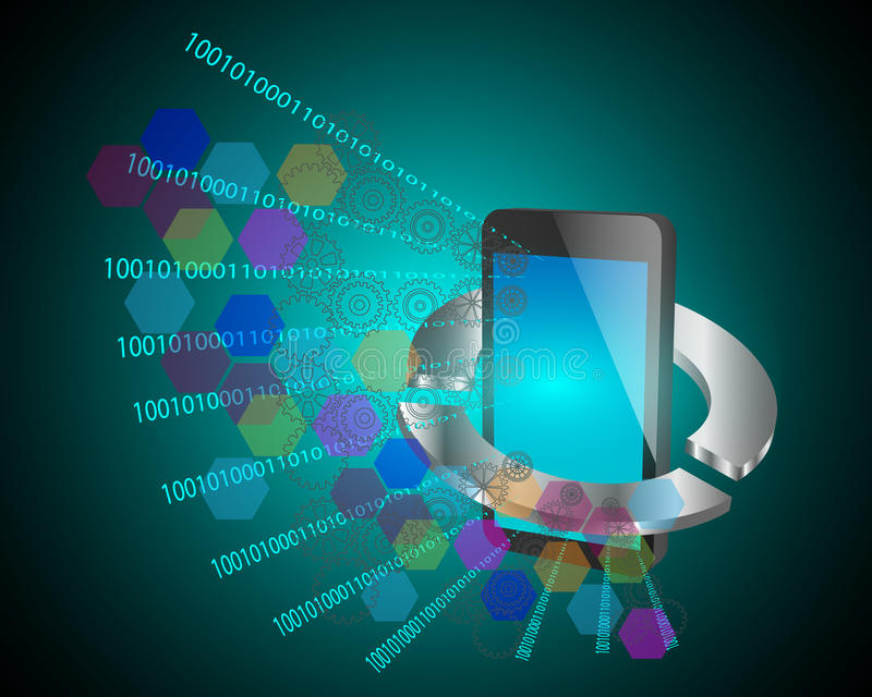 Concept Mobiele toepassingsontwikkeling royalty-vrije illustratie