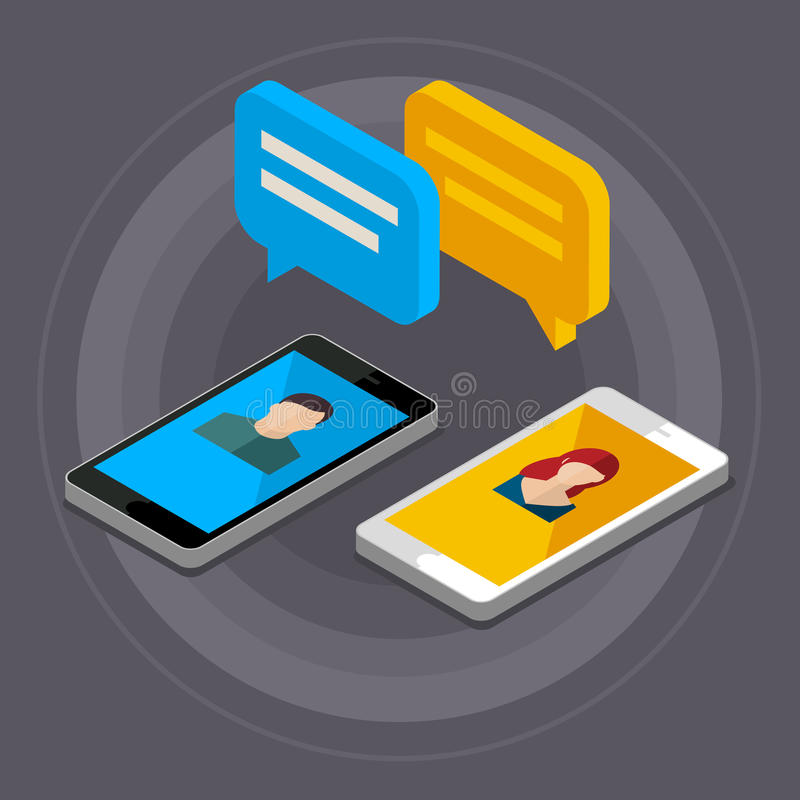 Concept of a mobile chat. vector illustration