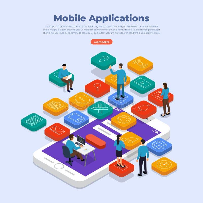 Concept mobile d'applications illustration de vecteur