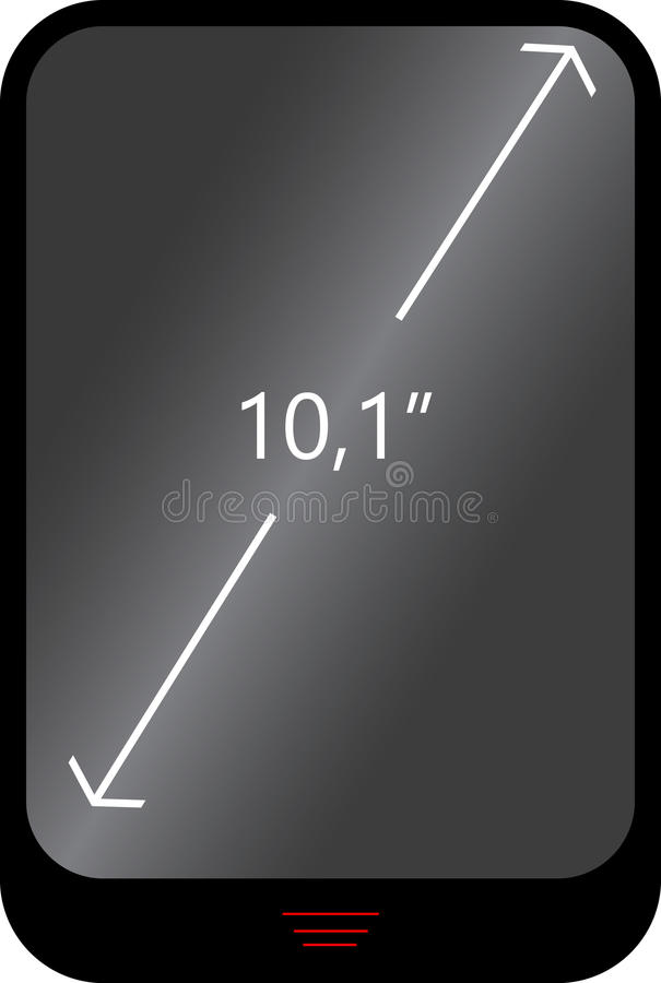 The concept of mobile gadget with an indication of the display diagonal royalty free stock photo