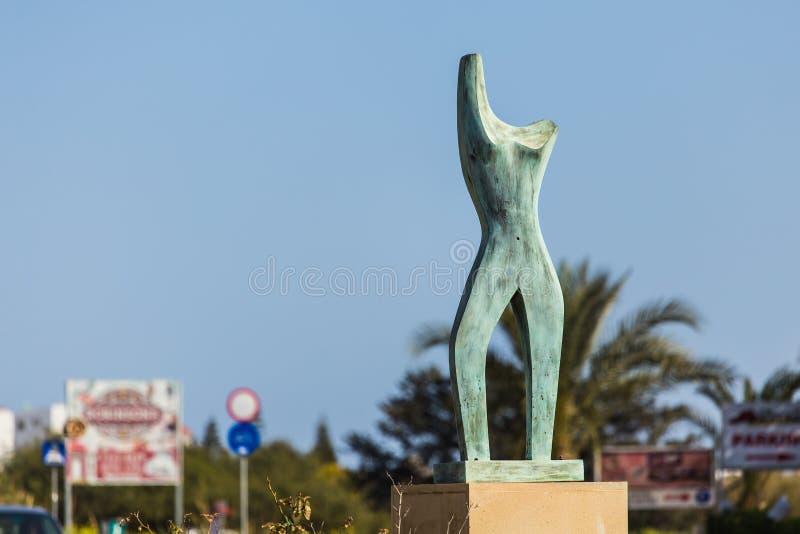 Concept of modern art - Female Body shape sculpture.  royalty free stock photo