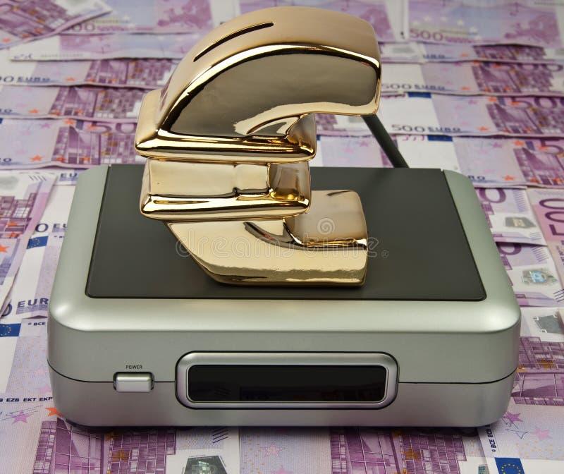 Concept Of Modern Communications Money Savings Royalty Free Stock Image