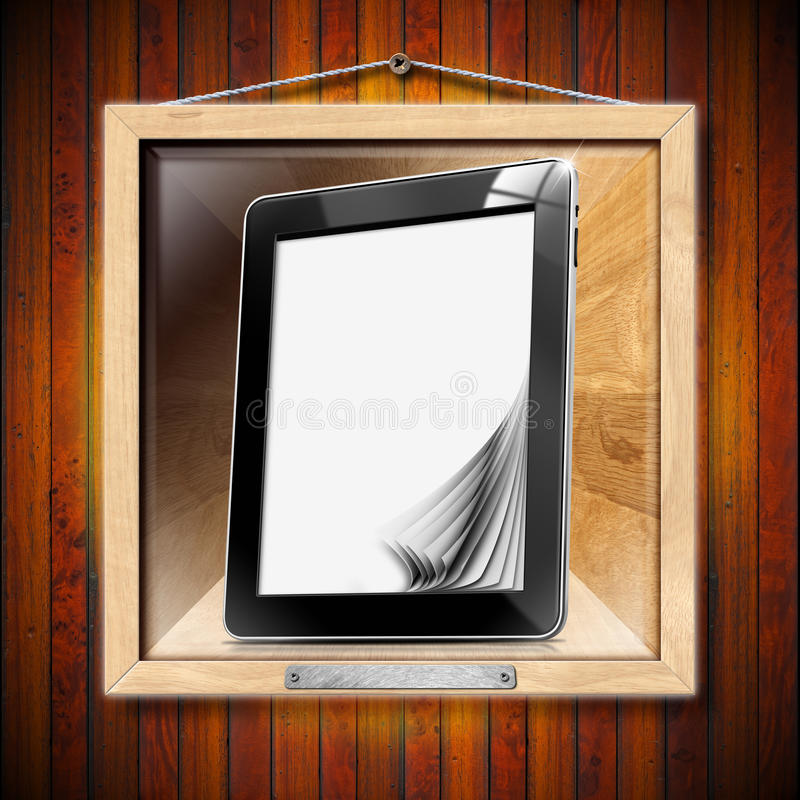Download Concept Of Modern Library - Tablet Computer Stock Image - Image: 26386821