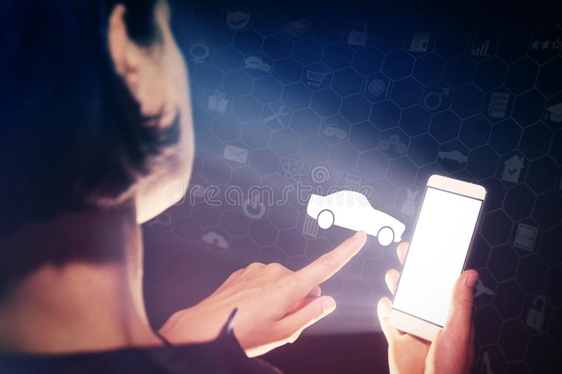Concept of modern technology in transportation. royalty free stock image
