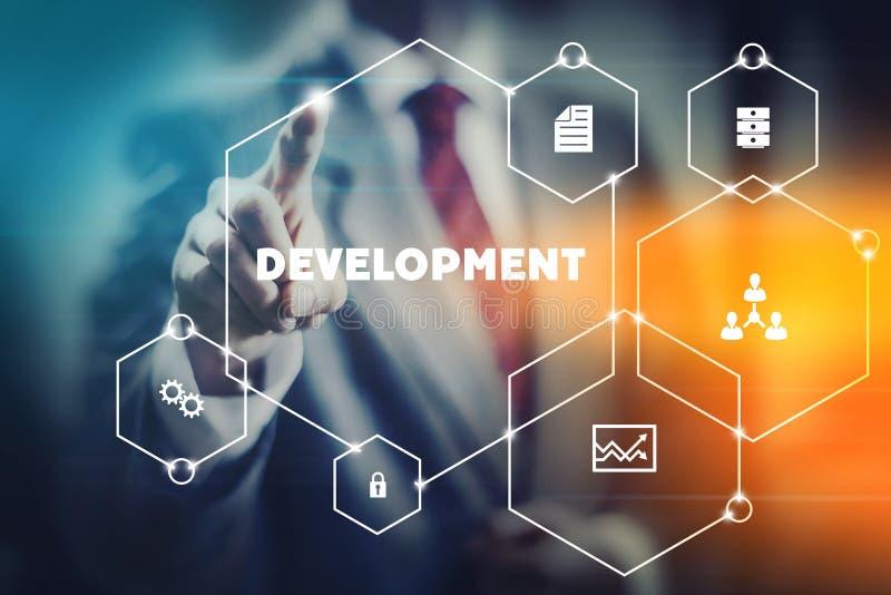 Concept moderne de développement image stock