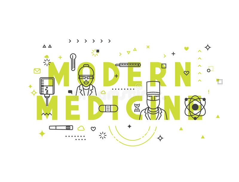Concept moderne de médecine illustration stock