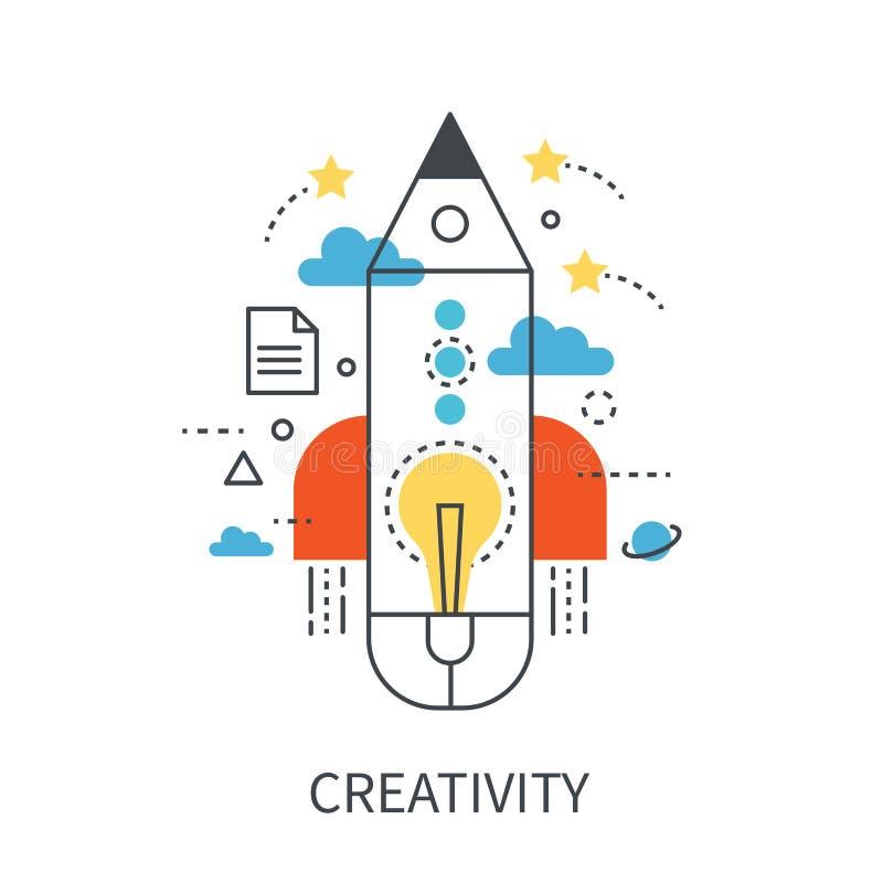 Concept moderne de vecteur de créativité illustration stock
