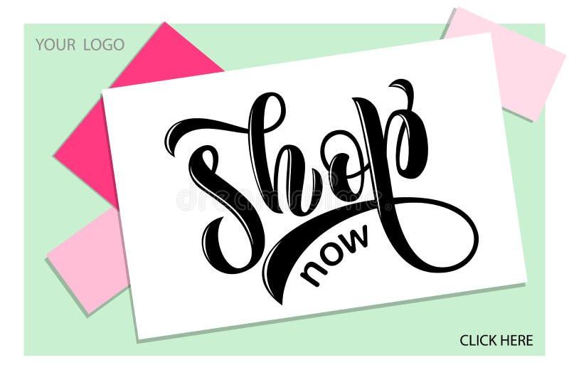 Concept moderne pour l'affiche, carte, conception, calibre pour la page Web de beauté de girlie, offre d'email illustration libre de droits