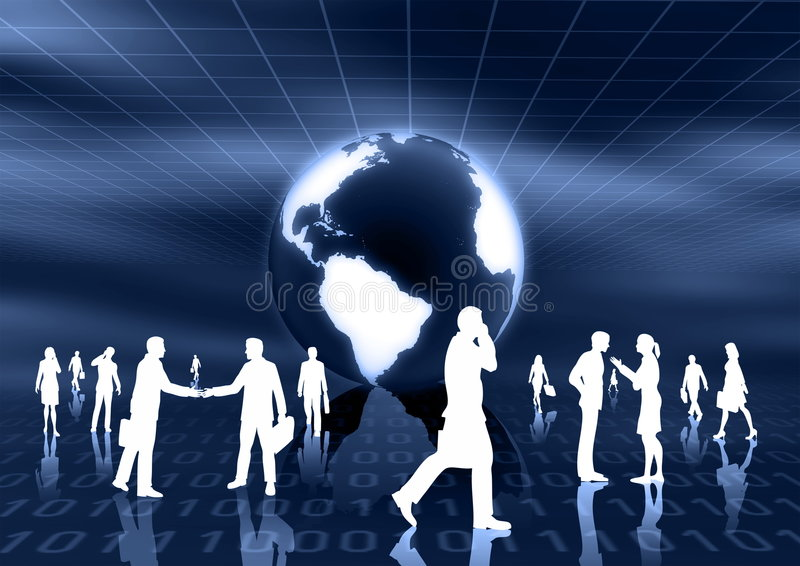 Concept mondial de commerce électronique