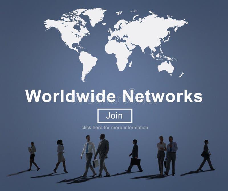 Concept mondial de technologie de mondialisation de connexion réseau images libres de droits