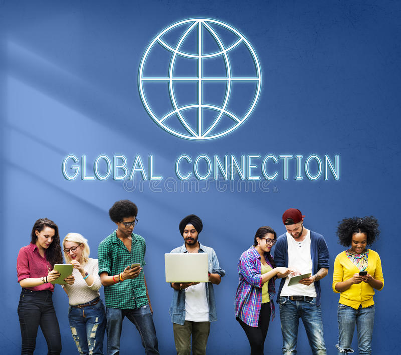 Concept mondial global d'International du monde de connexion image libre de droits