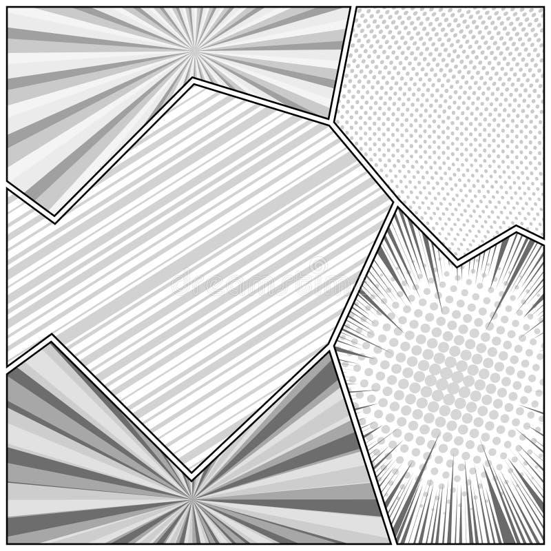 Concept monochrome comique illustration stock