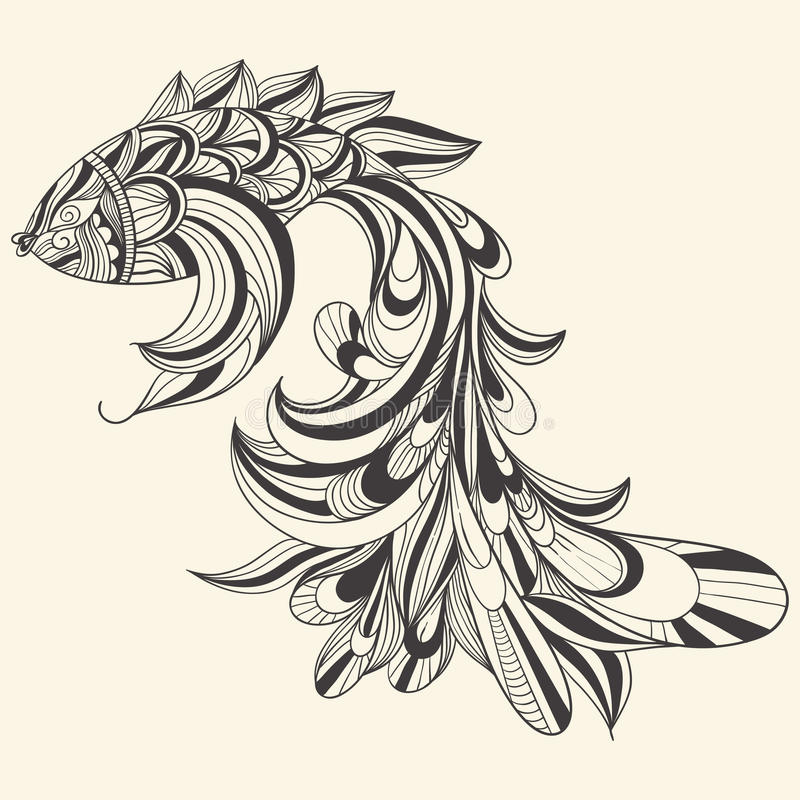 Download Concept monochrome fish stock vector. Illustration of abstract - 23461137