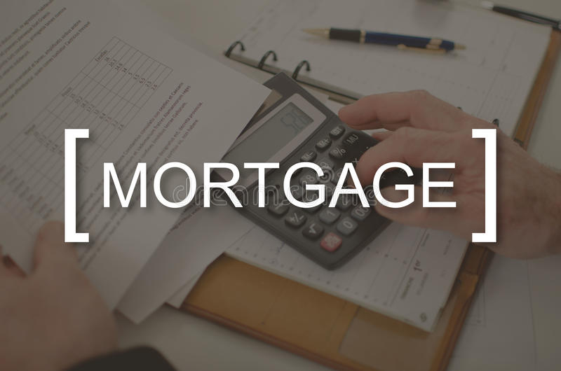 Concept of mortgage stock image