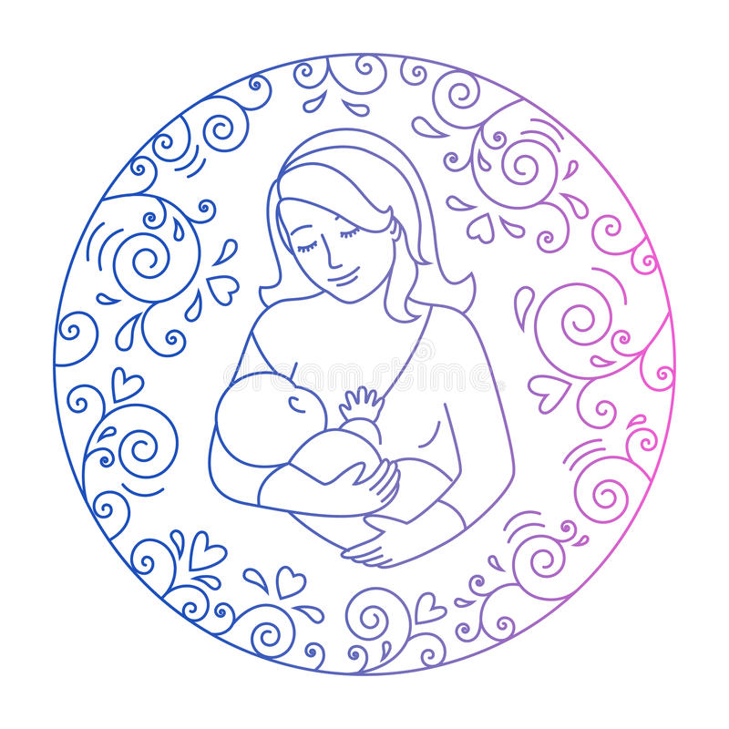 Concept of motherhood royalty free illustration