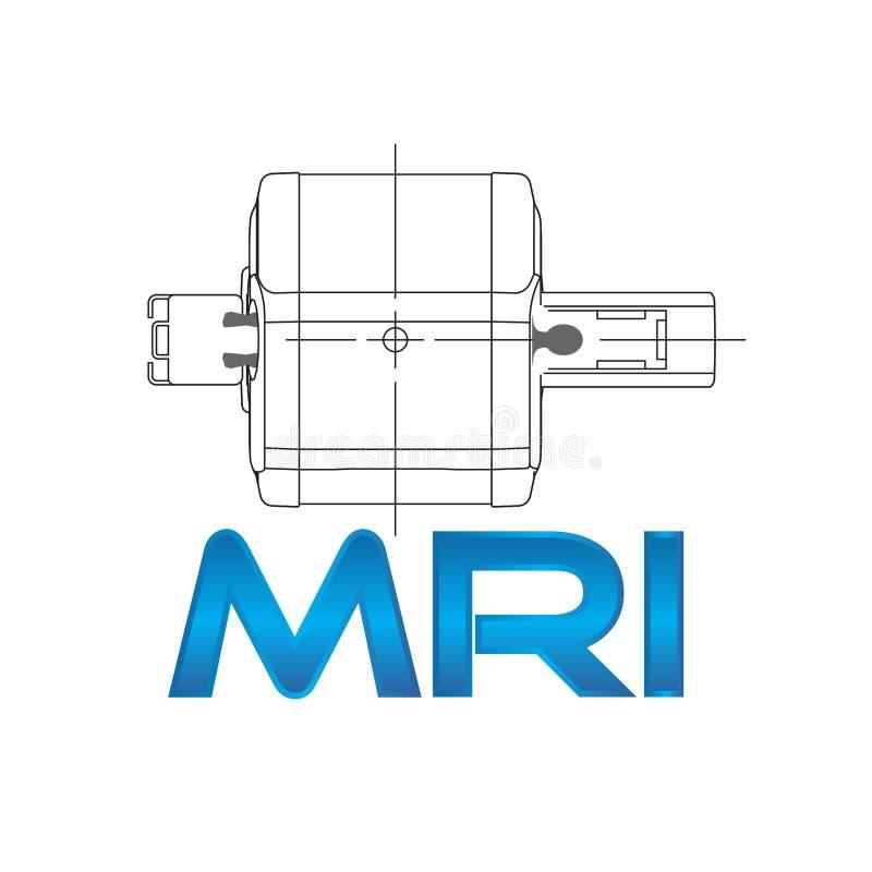 Concept MRI vector illustratie